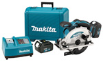 BSS610 - 18V LXT Lithium-Ion Cordless 6-1/2in. Circular Saw Kit, blade left, L.E.D. Light, case